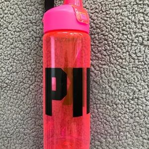 PINK water bottle with wristlet strap